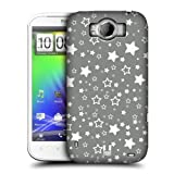 Head Case Designs Stars Silver Holiday Collection Hard Back Case Cover for HTC Sensation XL
