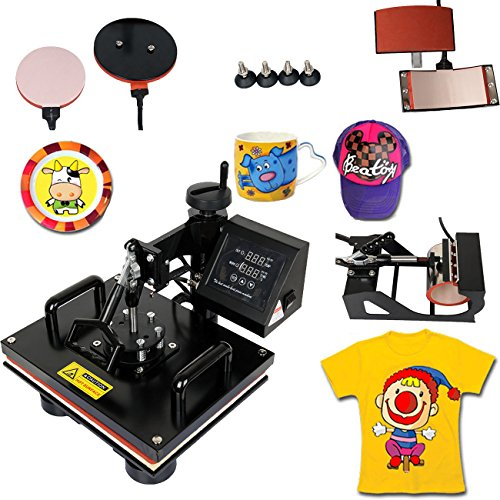 Iglobalbuy Multifunctional Digital Heat Press Transfer Machine (T Shirt Printer Machine Digital compare prices)