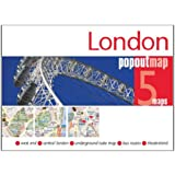 London PopOut Map: pop-up city street map of London city centre - folded pocket size travel map with transit map included (Popout Maps)
