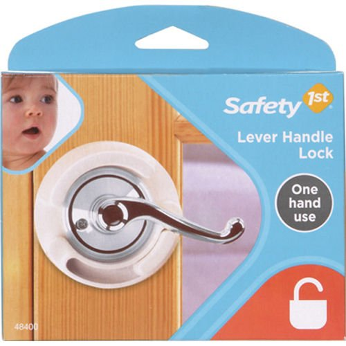 Safety 1st French Door Lever Handle Baby Proof Child Lock - One Hand Use - 72304 (Baby Proof Lever Door Handles compare prices)