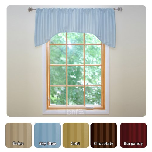 Hotel Stripe Insulated Thermal Blackout Window Valance Set