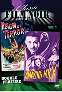 Classic Film Noir Double Feature Vol 3: Amazing Mr. X aka: The Spiritualist & Reign of Terror aka: Black Book [Import]