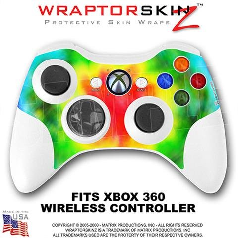 Tie Dye Skin by WraptorSkinz TM fits XBOX 360 Wireless Controller (CONTROLLER NOT INCLUDED)
