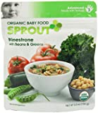 Sprout Organic Baby Food Minestrone with Beans and Greens, Stage-3, 5.5-Ounces Pouches (Pack of 12)