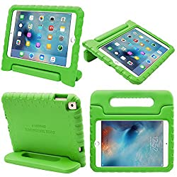 iPad Mini 4 Case, [Heave Duty] i-Blason Apple iPad Mini 4 2015 Armorbox [Dual Layer] Hybrid Full-body Protective Kickstand Case with Front Cover and Built-in Screen Protector / Bumpers (Green)