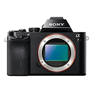 Sony a7 Full Frame Interchangeable Lens Camera Body Only - Black (24.3MP) 3 inch LCD