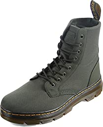 Dr. Martens Unisex Combs 8 Eye Fashion Boots, Green Nylon, 9 M UK M10/W11 M US