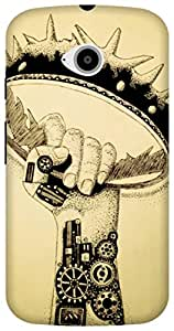 The Racoon Grip printed designer hard back mobile phone case cover for Motorola Moto E2. (Rise of th)