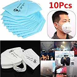 10pcs Unisex Particulate Respirators Dust Mist Mask Ear Loop Outdoor Sports Health