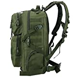 TTLIFE Military Tactical Backpack Large Army Assault Pack Bag Backpack Rucksacks for Outdoor Hiking Camping Trekking Hunting 45L Army Green