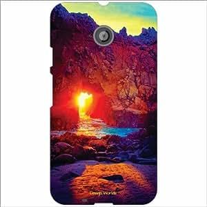 Design Worlds - Motorola Moto E (2nd gen) Designer Back Cover Case - Multic...