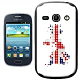 Fancy A Snuggle Union Jack on Dotted UK Modern Art Design Hard Case Clip On Back Cover for Samsung Galaxy Fame S6810