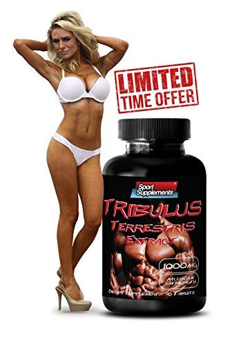 Libido Booster - Tribulus Terrestris extracto 1000mg - superior Natural testosterona - Premium Qaulity (1 frasco 90 tabletas)