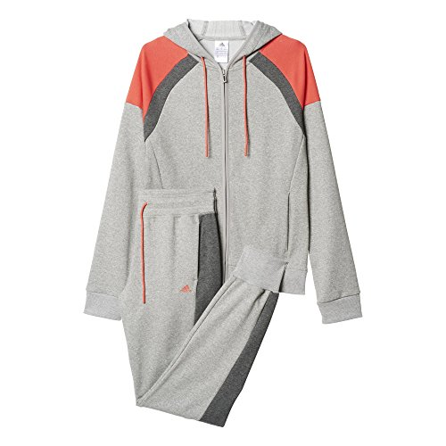 adidas-damen-trainingsanzug-young-cott-suit-grau-orange-m-4055344126349