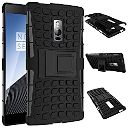 Dashmesh Shopping Hybrid Case for OnePlus 2 , Shock Proof Protective Rugged Armor Super Hybrid Heavy Duty Back Case Cover for OnePlus 2 One plus Two 1+2 -Black