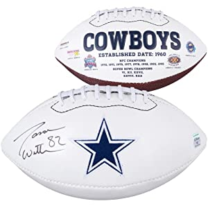 Jason Witten Dallas Cowboys Autographed White Panel Football - Memories - Mounted... by Sports Memorabilia
