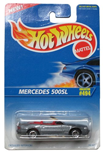 Hot Wheels 1995-494 Mercedes 500sl 1:64 Scale - 1