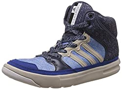 adidas Womens Irana Bold Blue, Grey and Brown Denim Sneakers - 4 UK