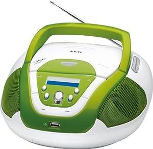 Bomann Portable Cd / Mp3 Player Radio Tuner Usb Stereo System Aeg Sr 4339 Green