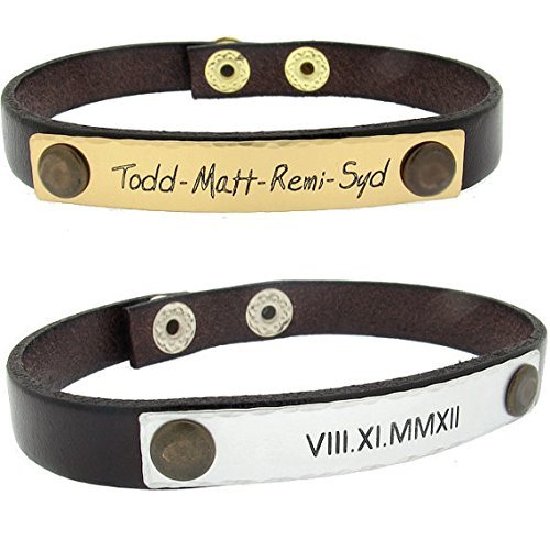 Date-Engraved-Leather-Wristband-Custom-Bracelet-for-Men-Personalized-Anniversary-Gift-Mens-Personalized-Bracelet-groomsmen-gift-Roman-Date-Bracelet