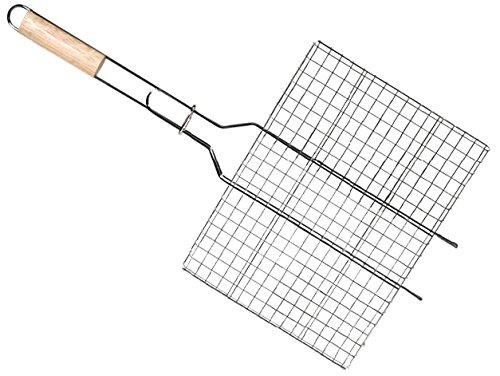 cook-grill-49137-grille-de-barbecue-rectangulaire-manche-en-bois-acier-gris-30-x-25-x-10-cm