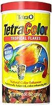 Tetra 16162 TetraColor Tropical Flakes, 7.06-Ounce, 1-Liter