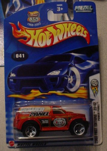 Hot Wheels 2003-041 First Editions Power Panel RED/Orange 1:64 Scale Highway 35 - 1