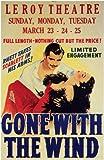 Gone With The Wind Poster Movie J 11x17 Clark Gable Vivien Leigh Olivia de Ha...