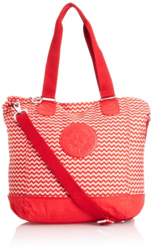 Kipling Women's Shopper Combo Tote, Chevron Red C, K12272B40