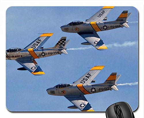 F-86 Sabres The Bremont Horseman Flight Team Mouse Pad, Mousepad (10.2 x8.3 x 0.12 inches)