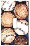 Art Plates - Old Baseballs Switch Plate - Single Toggle