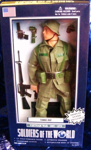 Buy Low Price Formative International Soldiers of the World Tunnel Rat Vietnam War 1961-1975 12″ Poseable Action Figure (B003IG6KT8)