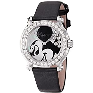 Chopard Happy Sport Round Ladies Mickey Mouse Diamond Watch 278475-3033