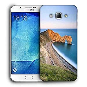 Snoogg Mountain And Large Opcean Printed Protective Phone Back Case Cover For Samsung Galaxy Note 5