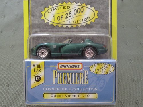 Matchbox Premiere Collection - Convertible Collection - Limited Edition - World Class Series #12 - Die Cast Dodge Viper RT/10 Convertible - 1