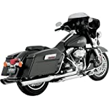 Vance & Hines Twin Slash Round Slip-Ons - Chrome , Color: Chrome 16763