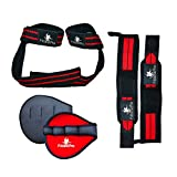 Wrist Wraps + Lifting Straps + Grip Pads Bundle - Ultimate 3-in-1 Fitness Package To Improve Hand Strength & Support For Weightlifting, Bodybuilding, Crossfit, Gym & Powerlifting