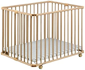 Geuther Lucy Playpen (Natural/ Stripes)       Babyreviews and more news