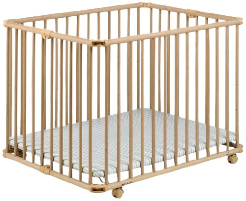 Geuther Lucy Playpen (Natural/ Stripes)