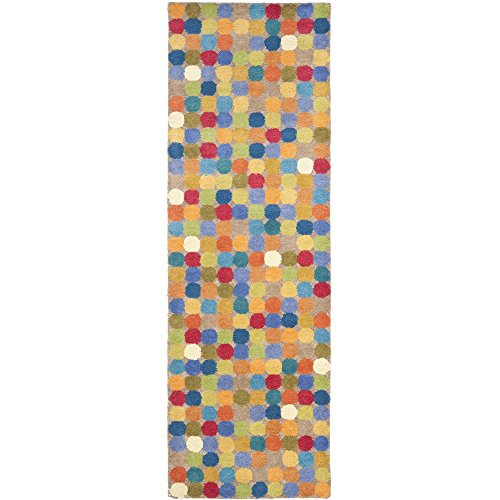 Safavieh Soho Collection SOH922A Handmade Multicolored Wool Runner, 2 feet 6 inches by 10 feet (2'6