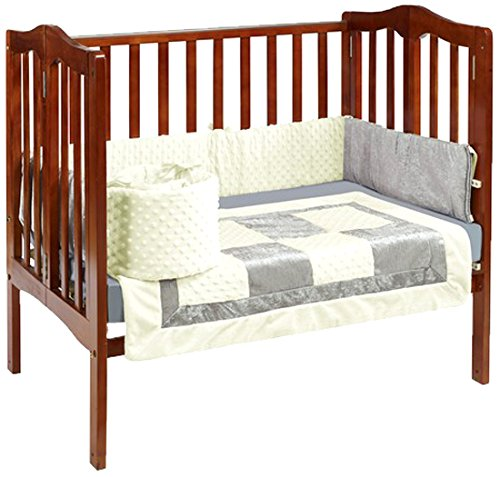 Baby Doll Croco Minky Port-a-Crib Bedding, Beige/Grey