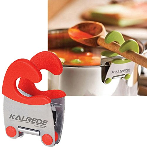 Kalrede Spoon Pot Clip Set of 2 (Black&Red)
