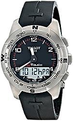 Tissot Men's T0474204705700 T-Touch Titanium Black Rubber Multifunction Watch