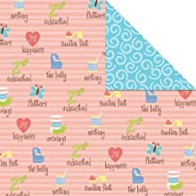 Amy Hurley Exhausted amp Pregnant Double Sided Scrapbook Paper 12quot Square Pack of 25 Sheets