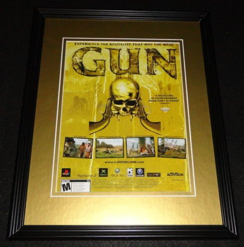 Gun The Game 2005 PS2 XBox 11x14 Framed ORIGINAL Advertisement (Gun Ps2 compare prices)