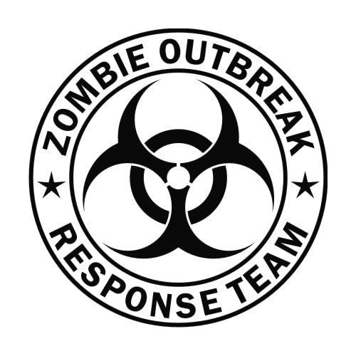 Zombie Outbreak Response Team Black Die Cut Vinyl Decal