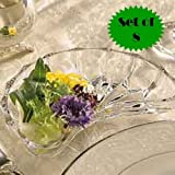 CUT GLASS CRESCENT SIDE DISHES (SET OF 8)