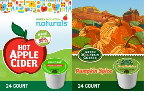 48 Count - Limited Edition Green Mountain Hot Apple Cider And Pumpkin Spice Coffee K Cup For Keurig K-Cup Brewers
