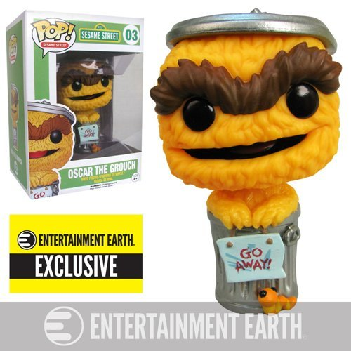 Sesame Street Oscar Grouch Orange Debut Pop! Vinyl EE Exc.
