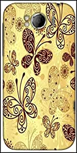 Snoogg Butterfly Cream Designer Protective Back Case Cover For HTC Sensation Xl